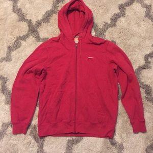 Red Nike Full Zip Hoodie